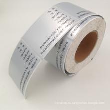 rollo autoadhesivo de la etiqueta del chorro de tinta del polipropileno del precio de fábrica