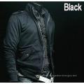 Fashion 100% Cotton Stand Collar Fashion Casual Men′s Fleece Jacket