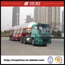 Acoplado del tanque, transporte de tanque de Gas en entrega de gas