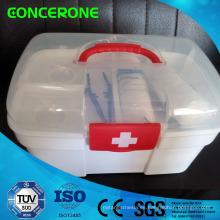 Caja de primeros auxilios de plástico para emergencias, deportes al aire libre, uso de la oficina