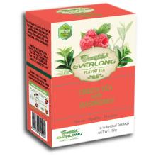 Framboesa, aromatizado, verde, chá, pirâmide, chá, saco, Premium, misturas, orgânica, UE, compatível, (ftb1505)