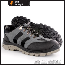 Low Cut Suede Leather Safety Shoe with PU/PU Outsole (SN5457)