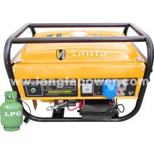 2kVA / 2.5kVA / 5kVA mano de inicio de uso doméstico generador de gas portátil