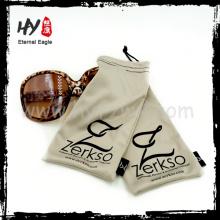 Funda de gafas de sol de marca / logotipo personalizado bolsa de gafas de microfibra / bolsa de microfibra de impresión personalizada