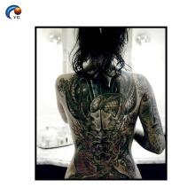 Decoração completa da etiqueta do tatuagem da parte traseira de CMYK no corpo
