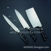 Super sharp damascus knife set at competitive price