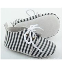 wholesale newborn baby suede leather stripe casual oxford shoes