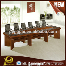 Reddish brown wooden large size meeting table