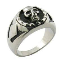 Anel de aço inoxidável anel de dedo crânio dedo
