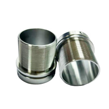 Custom cnc turned threaded aluminum pipe parts