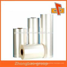 Super high heat shrinkage transparent PET film for shaped bottle