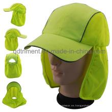 100% poliéster Microfilber al aire libre de protección Cap trabajo (TMW0739)