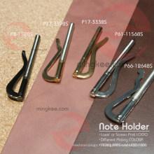 Accessoires en métal Slim Strong Spring pour porte-note de portefeuille