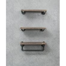 Floating Wall Pipe Shelves Brackets and Towel Rack