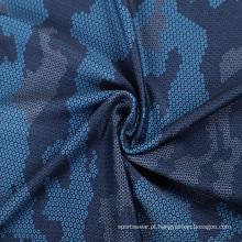tecido de micro poliéster com estampa esportiva de seda elástica