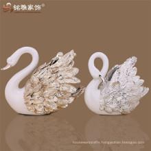 Display showroom decoration new design swan resin animal figure