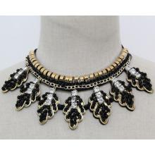 Mode Modeschmuck Blatt Kristall Chunky Choker Halskette (JE0182)