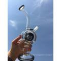 New Design 8 Inch Height Mini Portable Honeycomb Percolator Glass Water Pipe