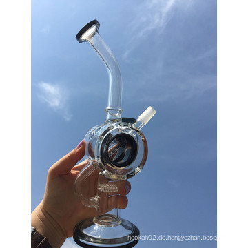 Neues Design 8 Zoll Höhe Mini Portable Waben Percolator Glas Wasser Rohr