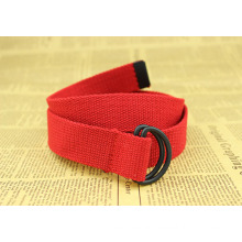 Red woven poly cheap leather belt