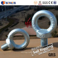 Boulon à oeil plaqué de zinc d'acier de la CE de haute qualité