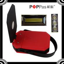 2015 новейших Poppas B70 360 градусов вращения COB и 3 светодиодных Магнитная рабочая лампа