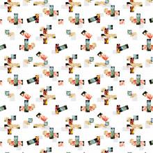 Chine Polyester 100% de tissu de doublure d'étoffe (PPF-073)