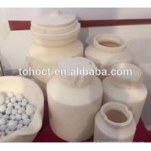 Pots de broyage en céramique zircone résistant à l'usure avec couvercle