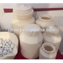 Wear resistant zirconia ceramic grinding jars with lid