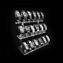 Clear Acrylic Watch Display Showcase Storage Stand