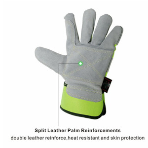 Gauge Polyester Fiberglass PU Coating Cut Resistant Gloves