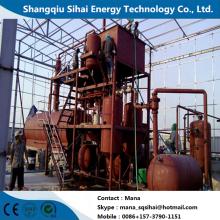 Refinación de aceite de motor para basar el equipo de destilación de petróleo