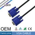 SIPU High quality black blue head VGA line 1.5 m 3+2 VGA hd line VGA computer Copper Clad Steel cable