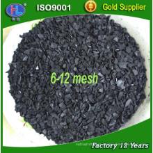 6 * 12 malla de oro refinación albaricoque de carbón activado