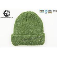 Popular Custom Jacquard 100% Acrylic Knitted Beanie Hat