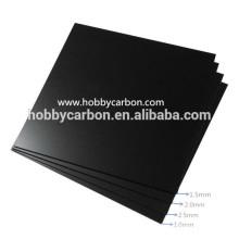 sergé / mat uni / brillant Plaque de fibre de carbone pleine / feuille / plaque / planches cnc