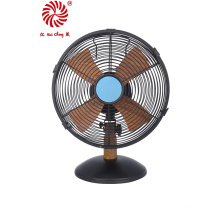 "Wood Grain 10"" Hot Sale Matel Table Fan 25cm Desk Fan"