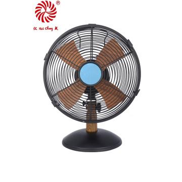 """Wood Grain 10"""" Hot Sale Matel Table Fan 25cm Desk Fan"""
