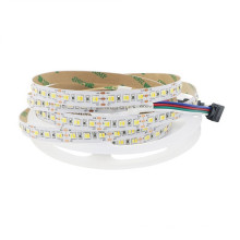 Double Dual White Color Temperature Tunable Led Tape Light Flexible Strip 5050 SMD 60Leds RGB dual white led rope light