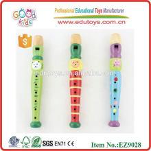 Классические разноцветные деревянные ритм-флейты, горячие продажи Деревянные музыкальные игрушки для детей