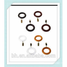 decorative wood curtain rings,Natural Wooden Curtain Rings for 35mm Pole,wholesale curtain ring