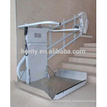 Inclined wheelchire lif tcerved wheelchair lift