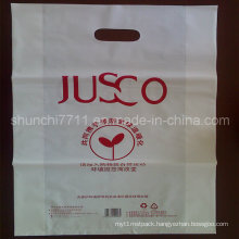 Plastic PE Punching Printing Shopping Bag