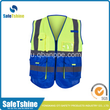 hi vis pocket biocolor vest with complex design