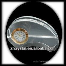 Magnifique horloge en cristal K9 T091