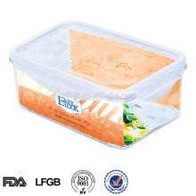recipiente de doces de plástico retangular easylock