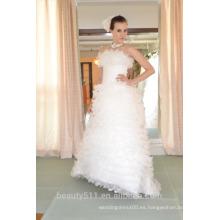 EN STOCK Off-The-hombro vestido de novia de encaje sin mangas asimétrico vestidos de novia SW93