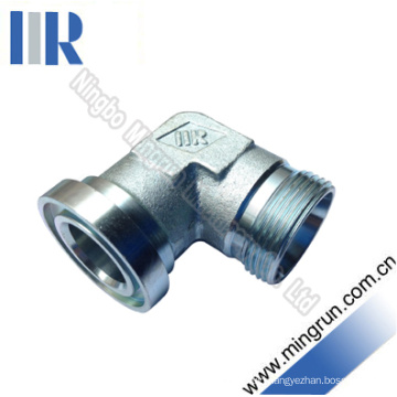 90 Elbow Metric Male / Flange Fitting Hydraulic Adapter (1CFL9)