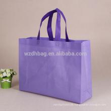 La bolsa de asas no tejida promocional promocionada de la laminación en blanco de los PP en existencia