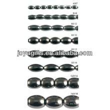 Perlas sueltas de hematites naturales de alta calidad para la fabricación de joyas